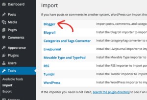 blooger to wordpress