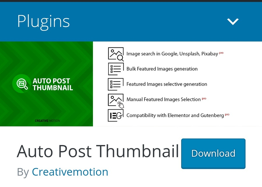 Automatically generated featured images
